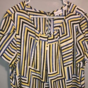 LIZ CLAIBORNE Plus size loose fitting striped top
